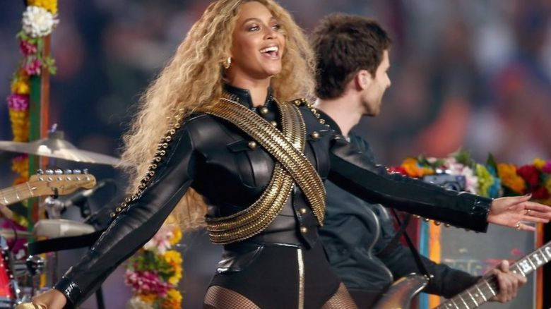 Beyonce at Super Bowl performance
