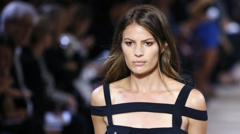 Cameron Russell on the catwalk