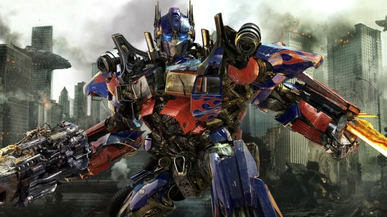 Optimus Prime is shown in a scene from Transformers: Dark of the Moon