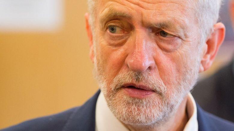 Jeremy Corbyn looking worried