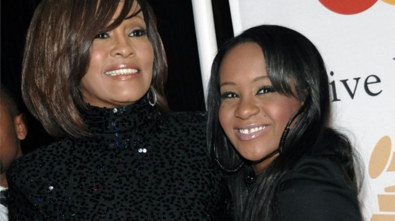 Bobbi Kristina with her famous mother Whitney Houston