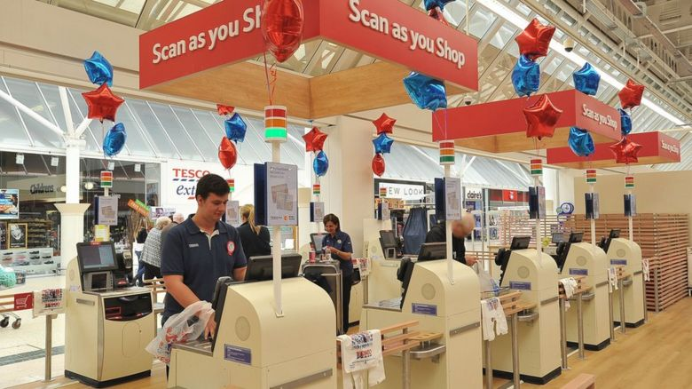 Tesco self-service checkouts