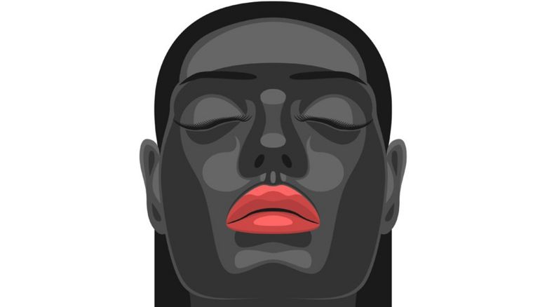 Graphic image of a black woman