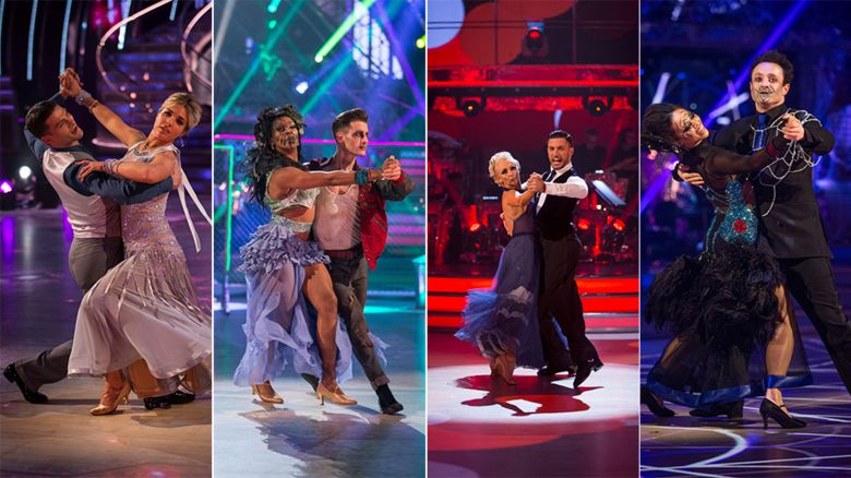 This year's Strictly finalists on the dancefloor