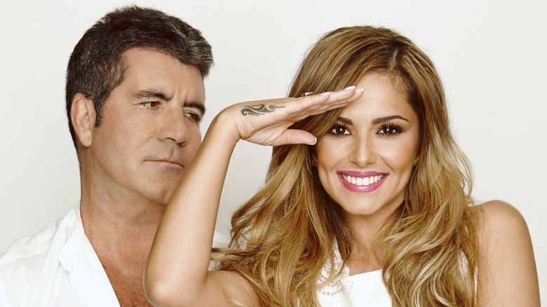 Simon Cowell and Cheryl Fernandez-Versini