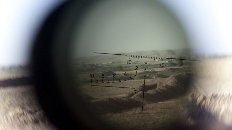 Looking down a sniper sight