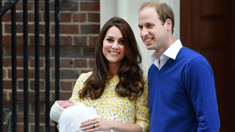 The Duke and Duchess of Cambridge with their newborn daughter