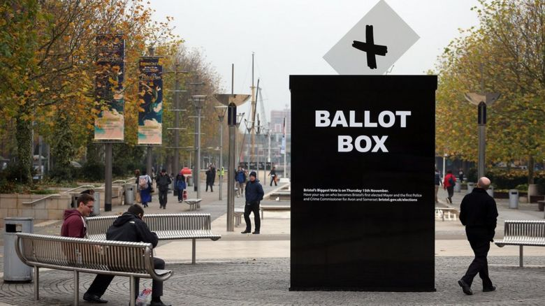 A giant ballot box