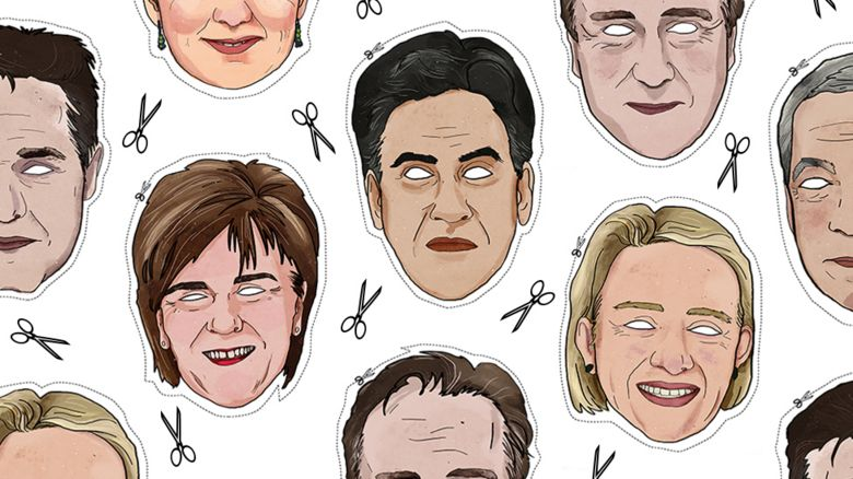 Masks of the political leaders
