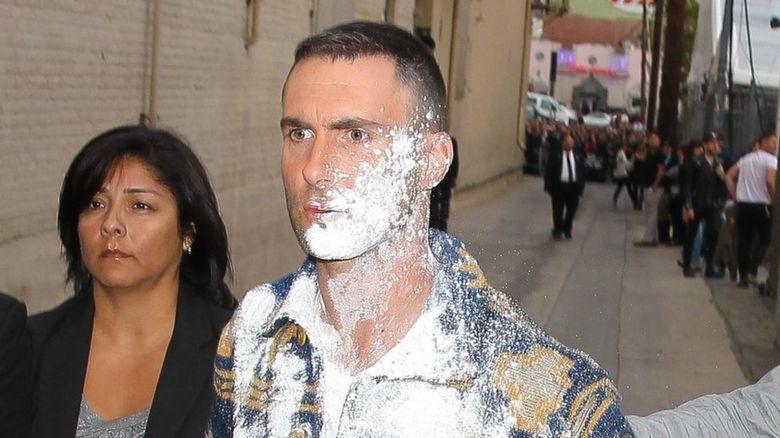 Adam Levine flour bombed