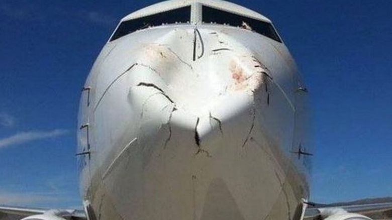 Nose of plane