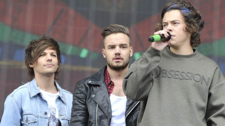 Louis, Liam and Harry from One Direction