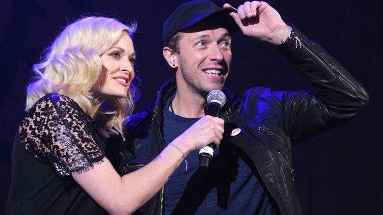 Fearne Cotton and Chris Martin
