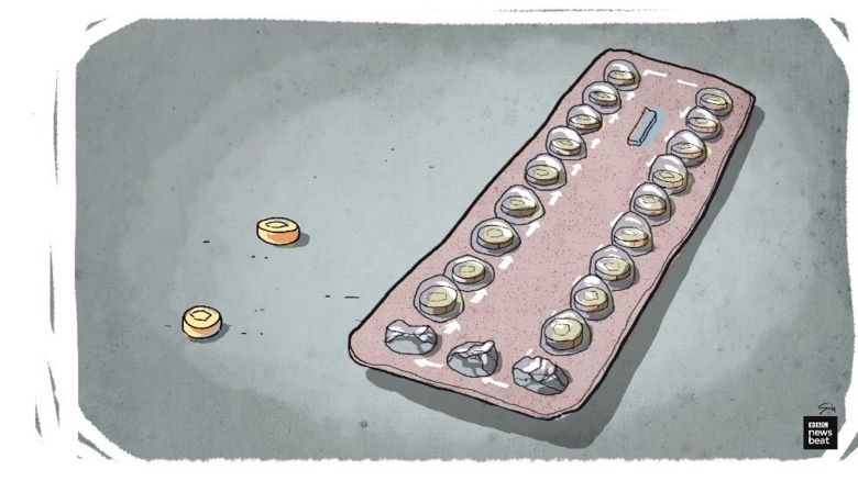 Contraceptive pill packet