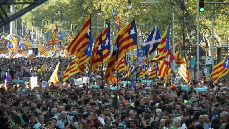 People gather in Barcelona