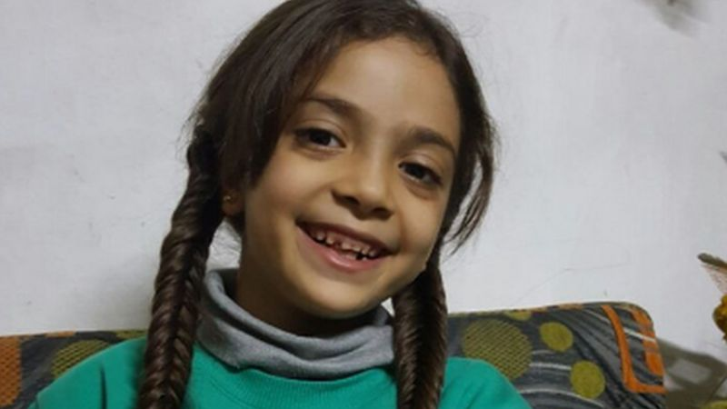 Bana Alabed, 7, in her home in East Aleppo