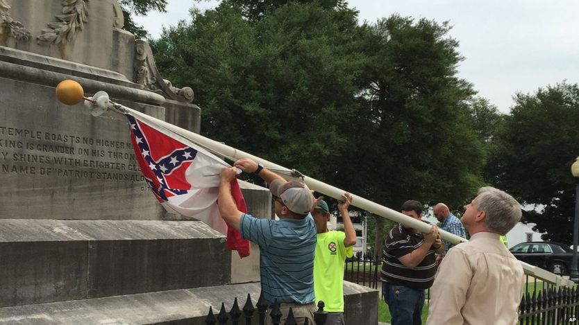 Alabama pulls Conferedrate flag from statehouse