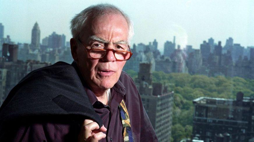 Jimmy Breslin en su apartamento de Nueva York.