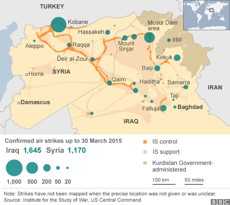 strikes against Islamic State 30 March