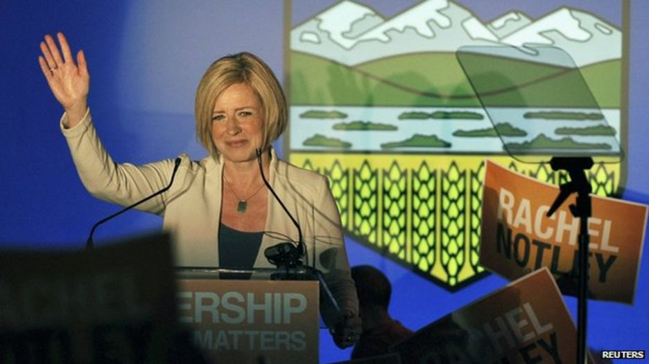 Leftist party wins Alberta election