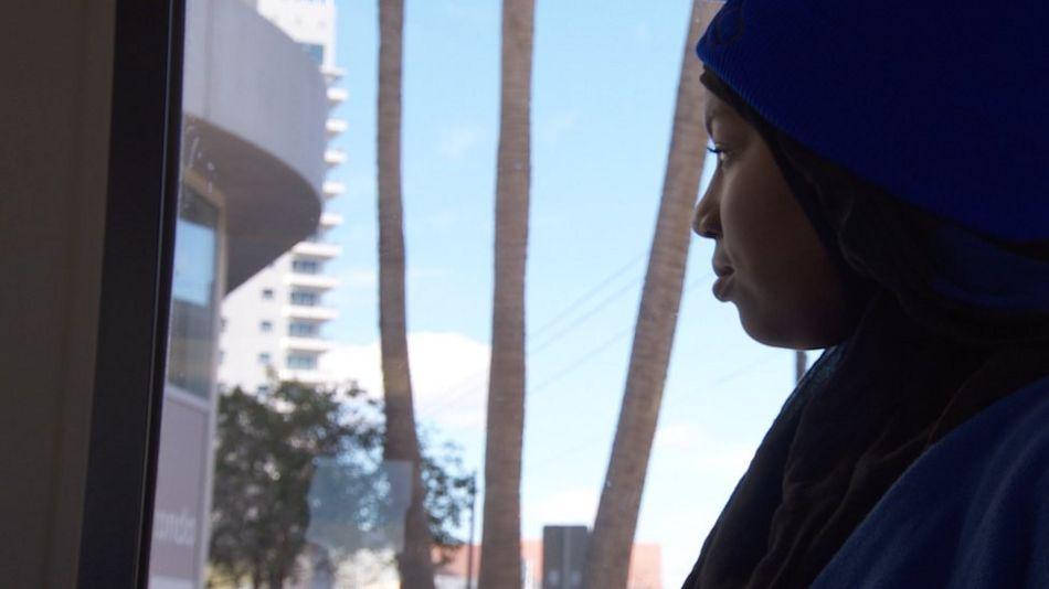 Talibah Abdul-Wahid, Muslim Student on Las Vegas bus