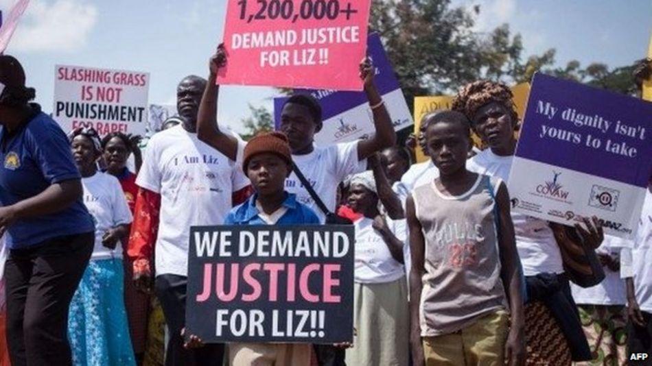 Protesters in Busia, 23 June