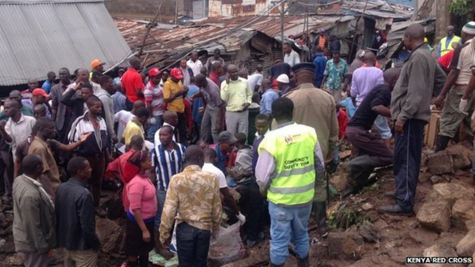 Kenya Red Cross at the scene