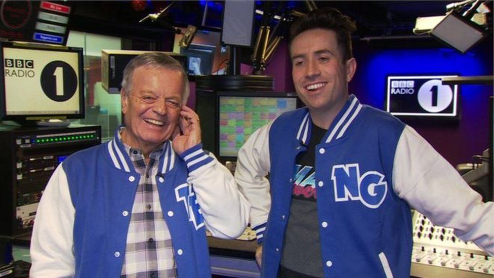 Tony Blackburn and Nick Grimshaw