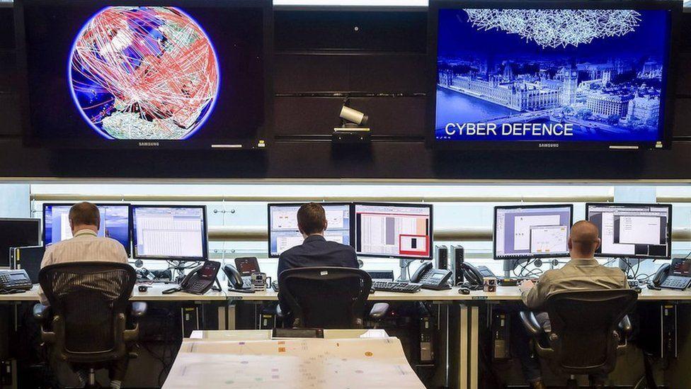 24 hour Operations Room inside GCHQ, Cheltenham