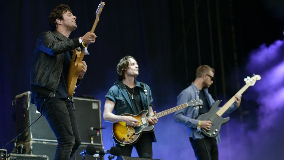 Jamie T, Felix White and Rupert Jarvis from The Maccabees