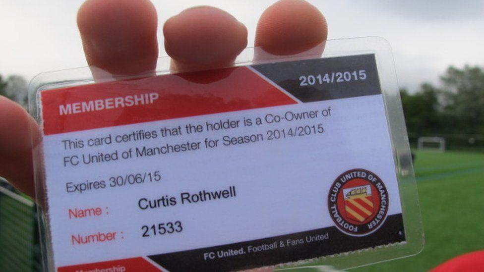 A FC United membership card.