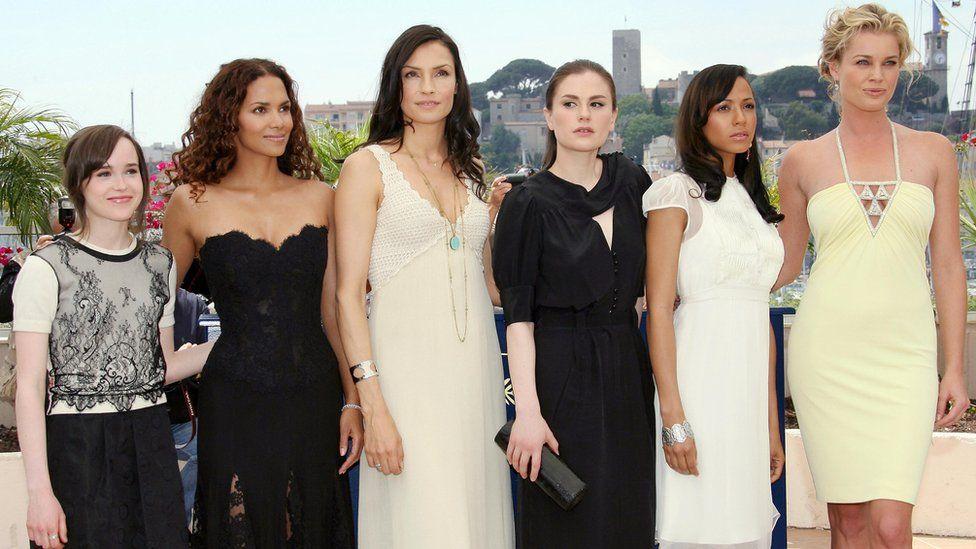 Ellen Page, Halle Berry, Famke Janssen, Anna Paquin, Dania Ramirez and Rebecca Romijn