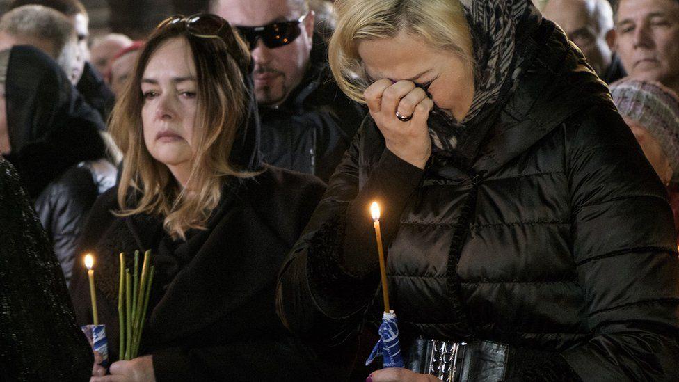 Марія Максакова на відспівування свого вбитого чоловіка Дениса Вороненкова