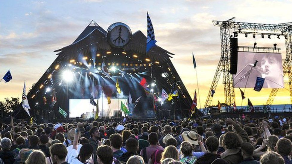 The Pyramid Stage at Glastonbury 2015