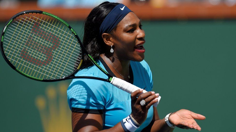 Serena Williams in the BNP Paribas Open finals.