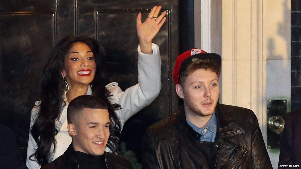 James says he's still good friends with his mentor on X Factor, Nicole Scherzinger