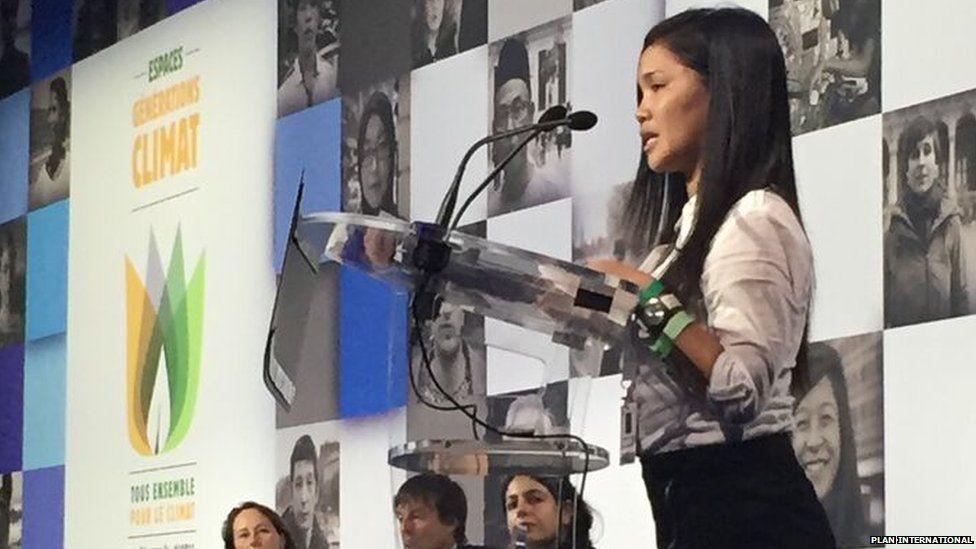Marinel speaking at COP21