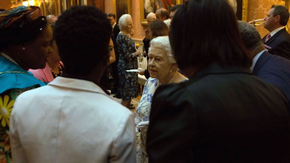 The Queen meets some of the winners at Queen's Young Leaders Awards