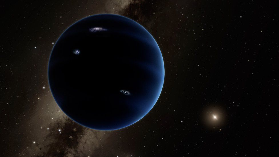 Artist's impression of ninth planet