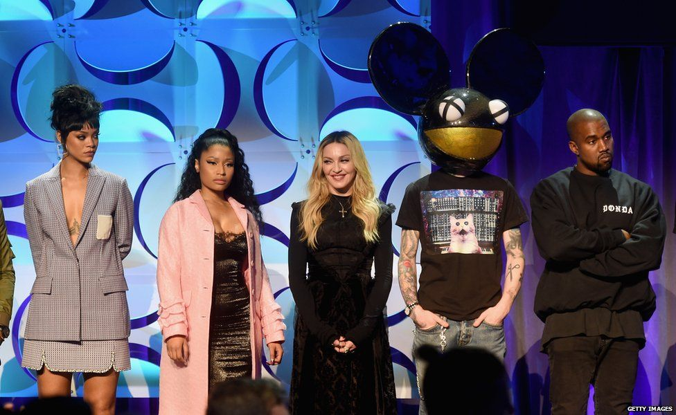 Rihanna, Nicki Minaj, Madonna, Deadmau5 and Kanye West