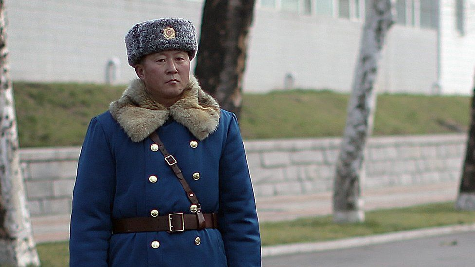 Traffic police officer in North Korea