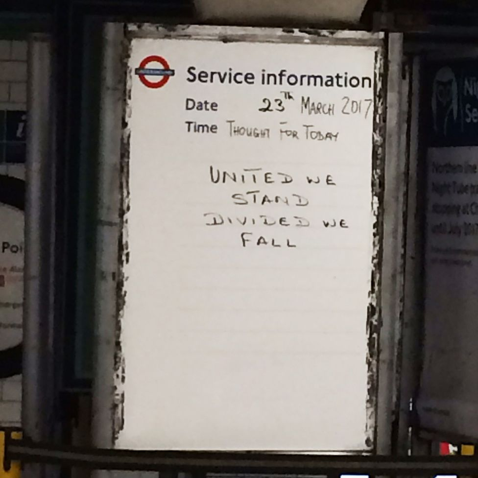 Inspiring Quotes On The London Underground After Westminster Attack