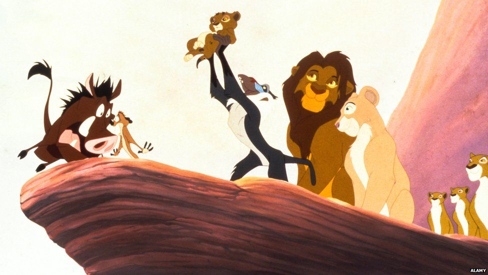 A still from The Lion King