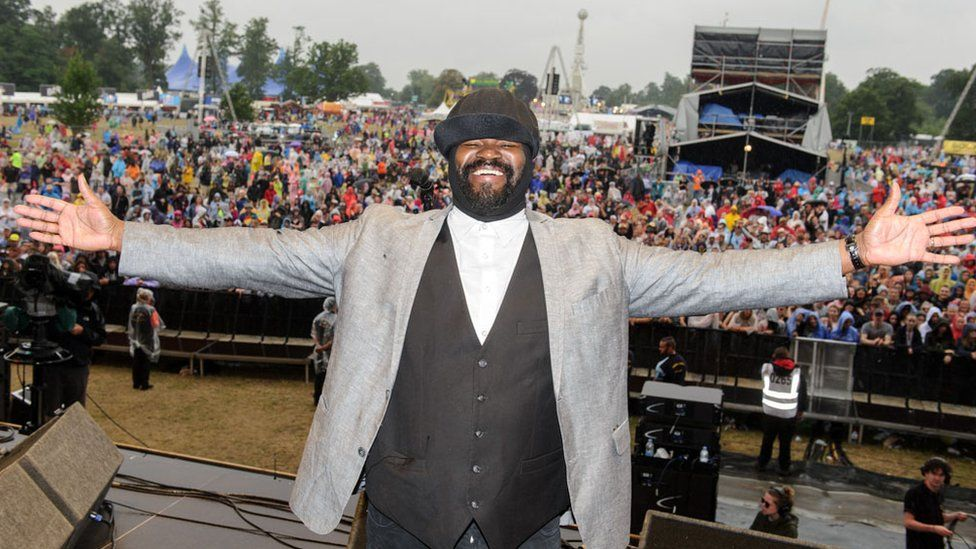 Gregory Porter on stage