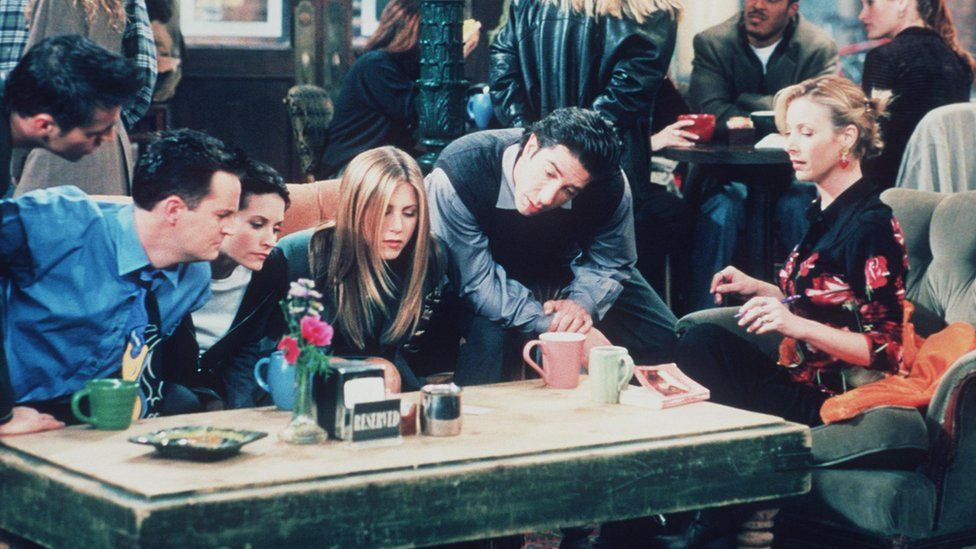 The cast of Friends gather in Central Perk