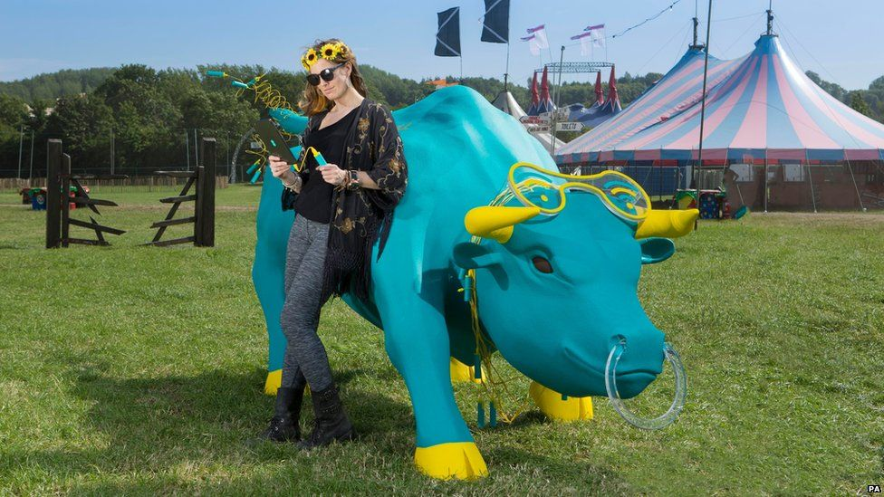 The 'charging bull' at Glastonbury