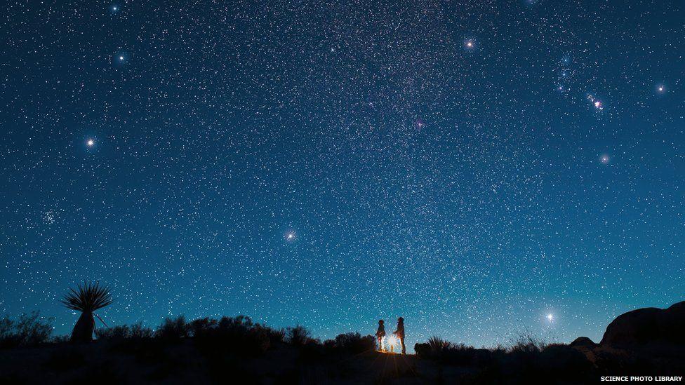 People star gazing