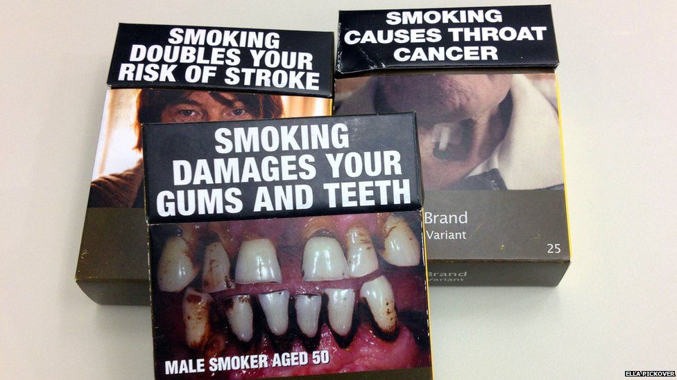 What's going on with cigarette packets as menthol cigarettes
