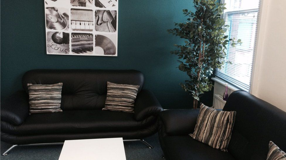 Sofas in the Male Mental Health and Wellbeing Centre
