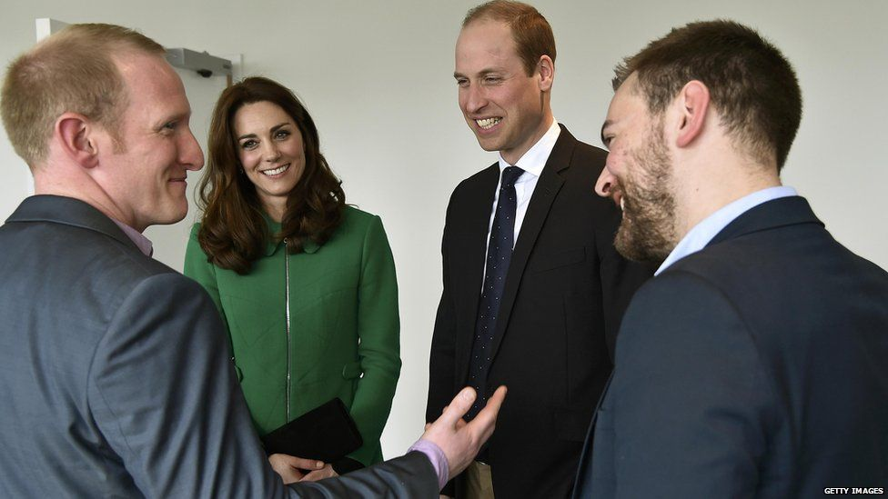 Jonny and Neil meeting the Duke and Duchess of Cambridge